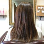 ハイダメージ毛で指が引っかかる髪質に1回の施術でここまで!