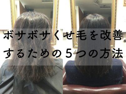 方法 治す くせ毛 を