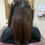 くせで毛先のまとまりが悪い髪を縮毛矯正で収まりを良くしていく!